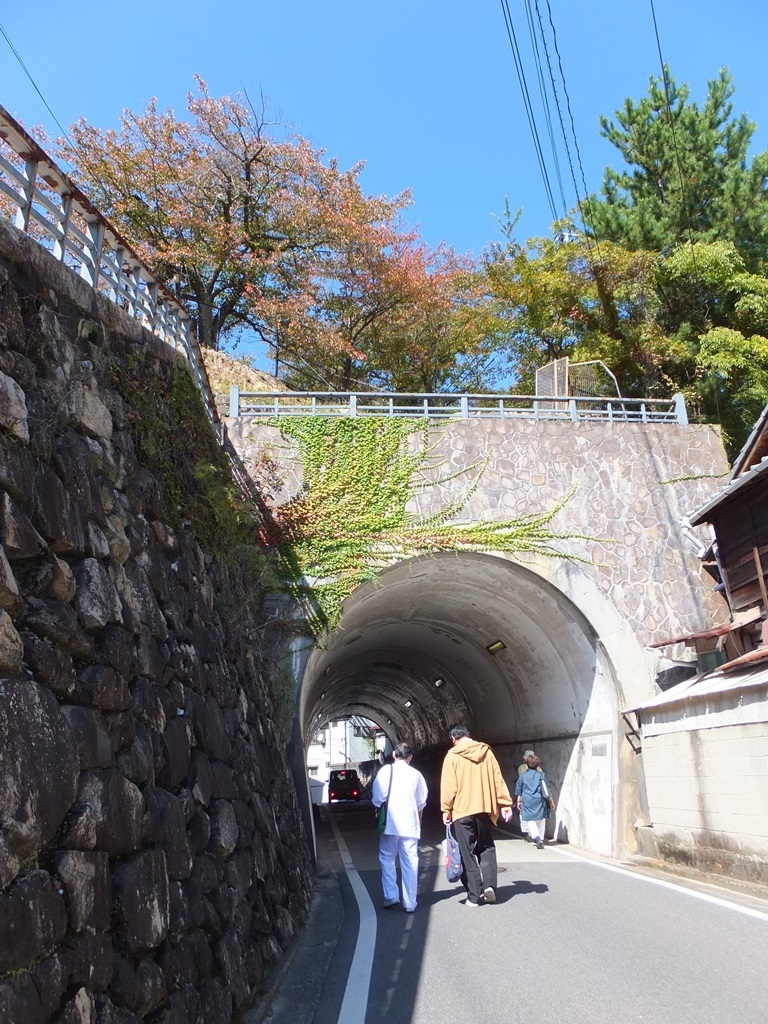 トンネルの上は要害山
