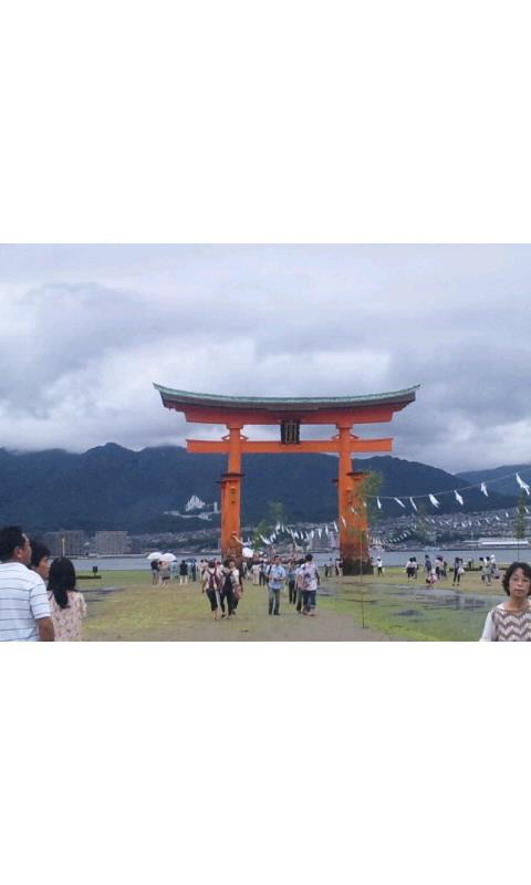 厳島神社から大鳥居へ結界