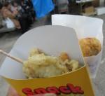 天ぷらとコロッケ