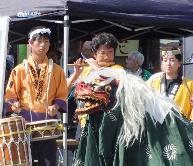 宮島太鼓の獅子舞