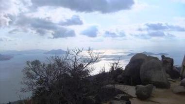 頂上から見た景色